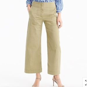 NWOT J.Crew Cropped Pant in Stretch Chino Olive 4